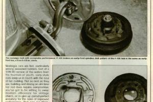 F100 Ford brake installation